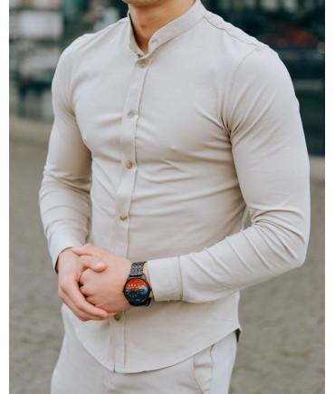 Рубашка бежевая стойка (ОС)